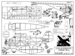 Stinson SR-6 model airplane plan