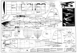 Stinson 105 50in model airplane plan