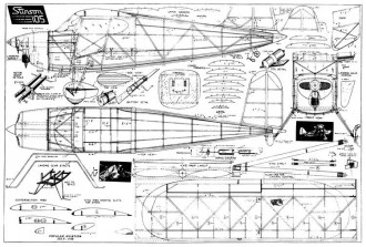 Stinson 105 54in model airplane plan