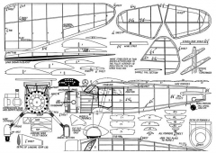 Stinson 1936 Reliant model airplane plan
