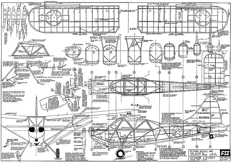 Stinson L-5-FSI S12 model airplane plan