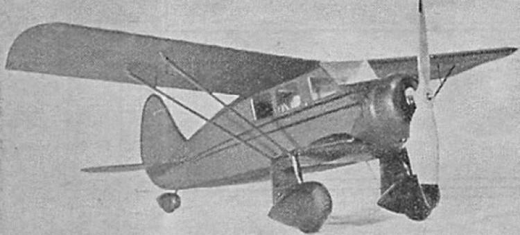 Stinson R model airplane plan