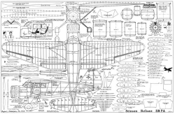 Stinson Reliant SR-7A model airplane plan