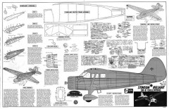 Stinson Reliant SR-8 model airplane plan