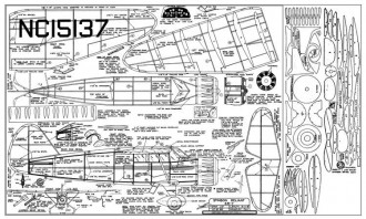 Stinson SR-7 Reliant 25in model airplane plan