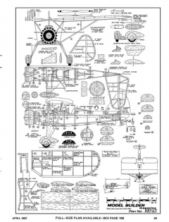 Stinson Senior Trainer-MB-04-87 model airplane plan