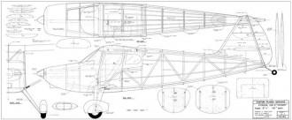 Stinson Voyager model airplane plan