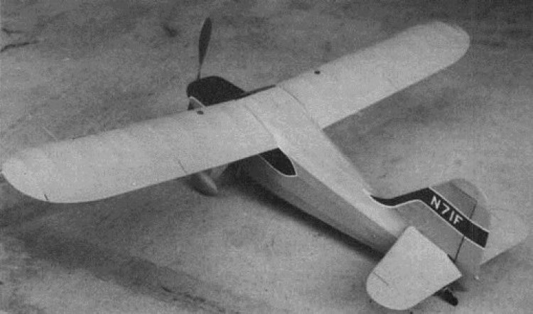 Stinson Voyager 108 model airplane plan