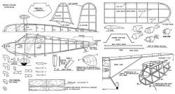 Stinson Voyager 20in model airplane plan