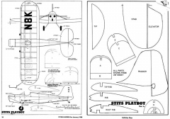 Stits Playboy model airplane plan