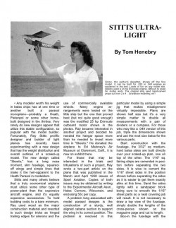 Stitts Ultralight model airplane plan