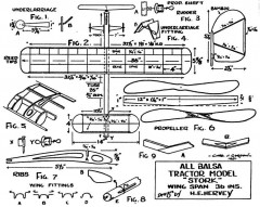 Stork model airplane plan