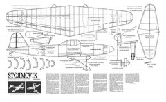 Stormovik model airplane plan