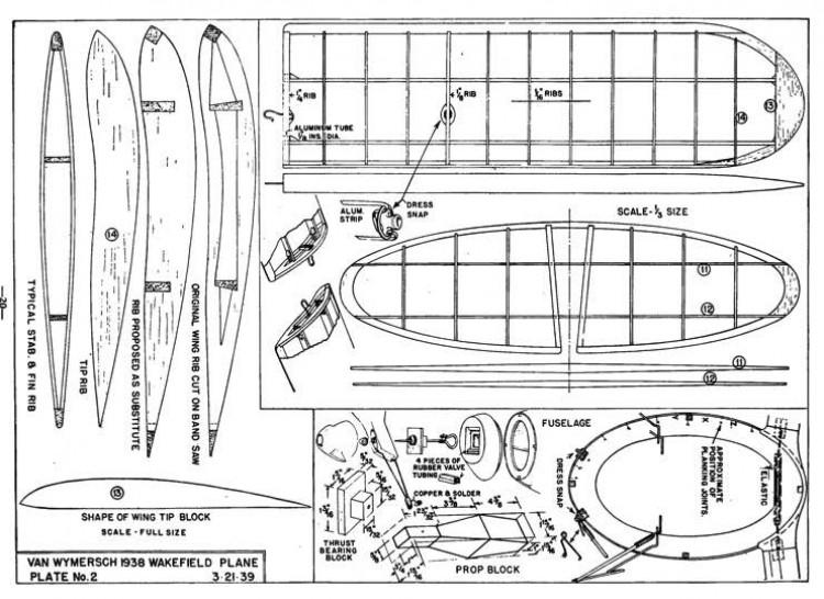Streamline Wake p2 model airplane plan