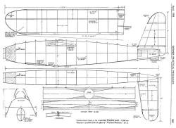 Streamlined Wakefield 1939 model airplane plan