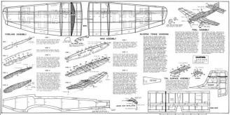 Ju-87B Stuka model airplane plan
