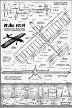 Stuka Stunt model airplane plan
