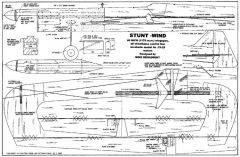 Stunt-Wind model airplane plan