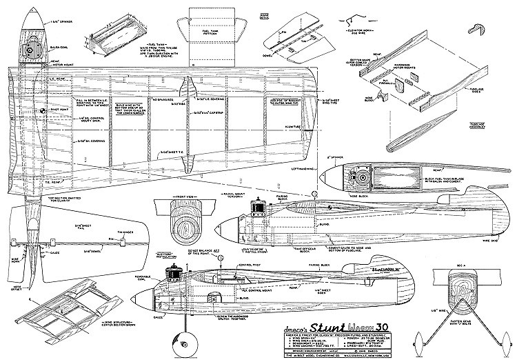 Stunt Wagon 30 model airplane plan