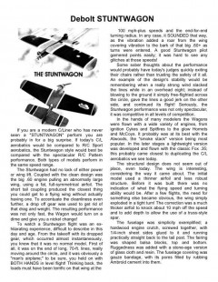 Stuntwagon Debolt model airplane plan
