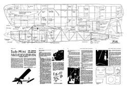 Sub Mini 2 model airplane plan