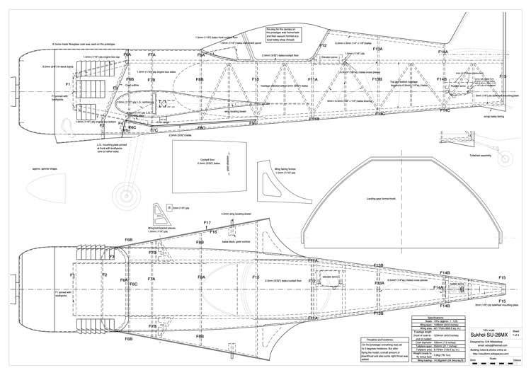 Sukhoi SU-26MX model airplane plan