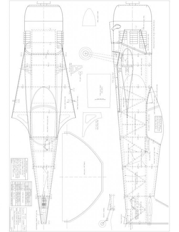 Sukhoi SU 26mx p1 Model 1 Fuselage model airplane plan