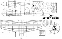 Sukhoi su6-su7 model airplane plan