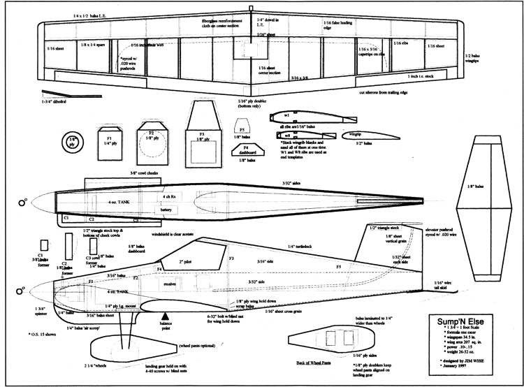SumpN Else model airplane plan