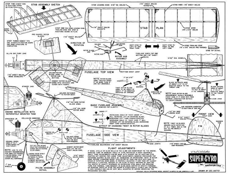 Super-Gyro model airplane plan