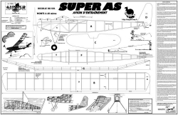 Super As model airplane plan