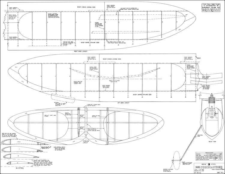 Super Commander Megow model airplane plan