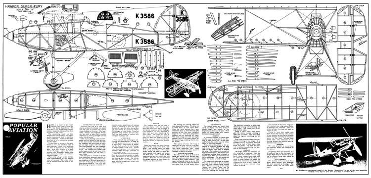 Super Fury model airplane plan