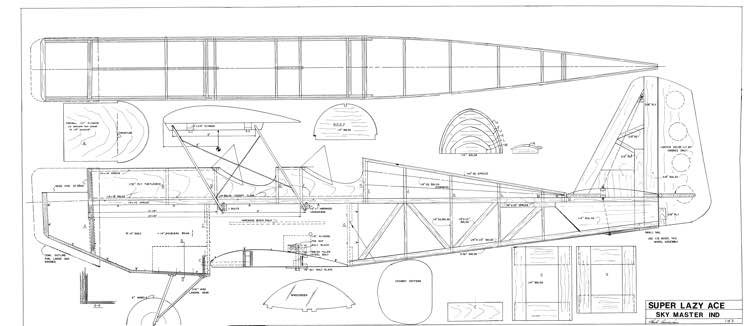 Super Lazy Ace model airplane plan