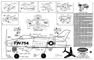 Super Sabre model airplane plan