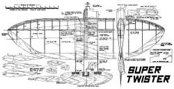 Super Twister model airplane plan