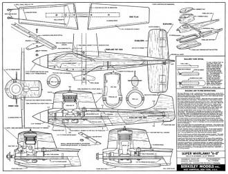 Super Whirlaway model airplane plan