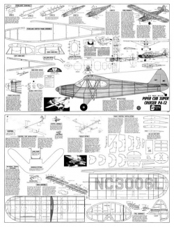 Piper PA-12 Super Cruiser model airplane plan