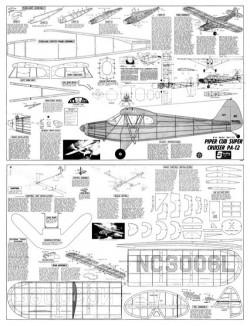 Piper PA-12 Super Cruiser model airplane plan