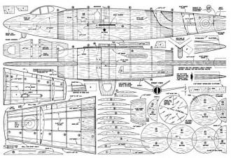 Supermarine 508 model airplane plan