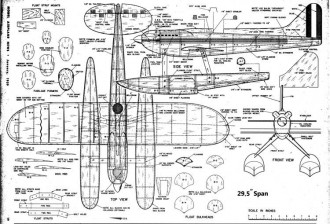 Supermarine S6B model airplane plan