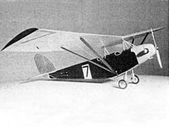 Supermarine Sparrow model airplane plan