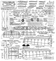 Swallow BA model airplane plan