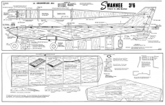 Swannee 38in model airplane plan