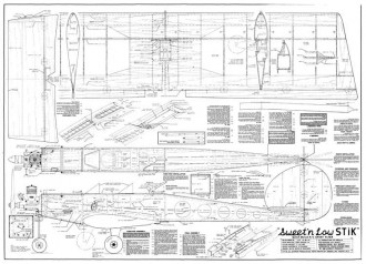 Sweet'n Low Stik model airplane plan