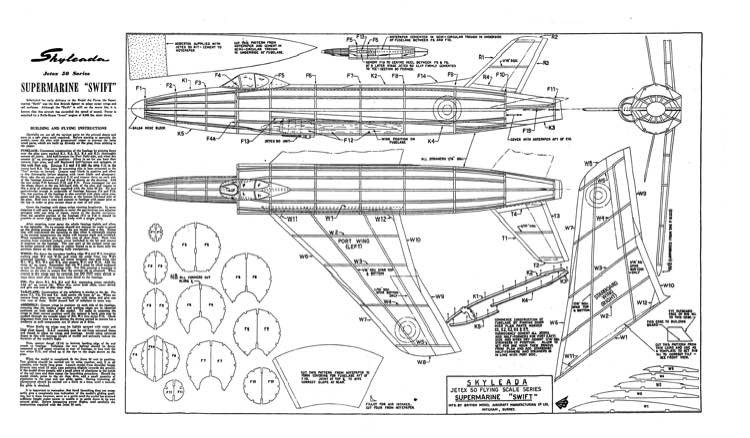 Swift3 model airplane plan