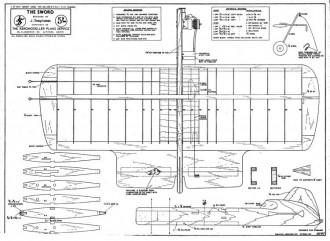 Sword model airplane plan