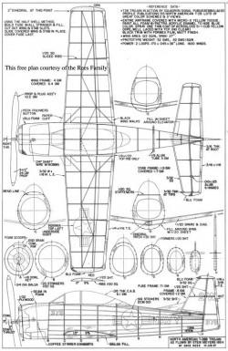 T-28B Trojan model airplane plan