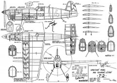T-2 1954 model airplane plan