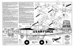 T-34 Mentor model airplane plan